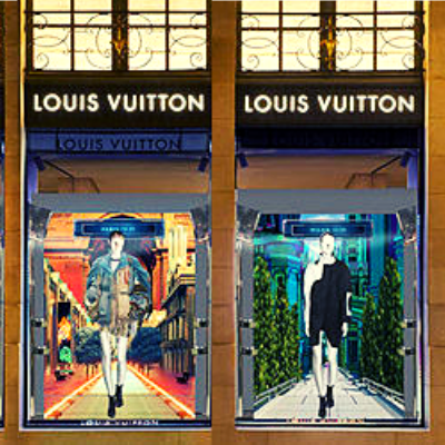 LOUIS VUITTON VETRINE DIGITALI