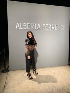 Outfit sfilata Alberta Ferretti. Stylist David Lafitte Pagano